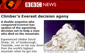 Climber's Everest decision agony