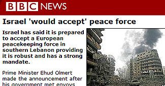 Israel 'would accept' peace force