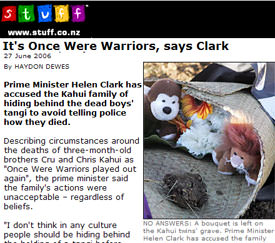 It's Once Were Warriors, says Clark