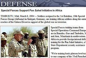 Special Forces Support Pan Sahel Initiative in Africa
