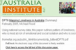 Mapping Loneliness in Australia