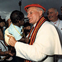 Pope John Paul II in Alice Springs, 1986