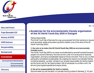 World Youth Day's ecological conversion opportunity