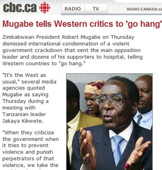 What to do about Mugabe