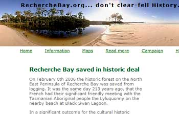 Recherche Bay historian aids natural  beauty preservation
