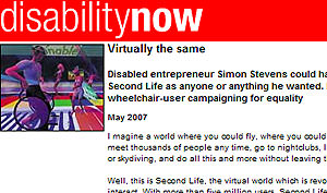 The disabled can fly in Second Life