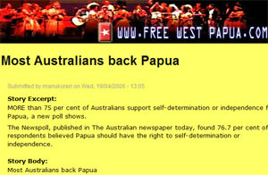 Most Australians back Papua
