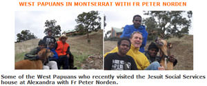 West Papuans in Montserrat with Fr Peter Norden