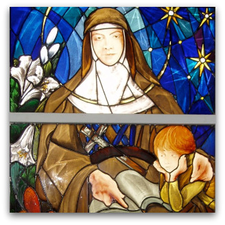 Mary MacKillop stained glass window