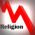 Religion in decline line graph