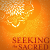 'Seeking the Sacred' by Stephanie Dowrick, detail from book cover
