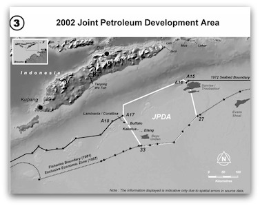 Map portraying 2002 Joint Petroleum Development Area