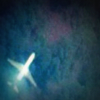 Satellite photo of a plane resembling MH370