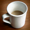 Half empty coffee mug