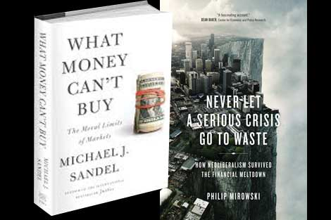 Sandel and Mirowski books