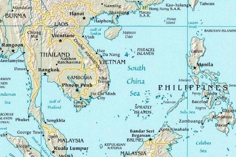 Map of South China Sea