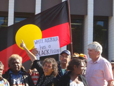 Frank Brennan at Aboriginal protest