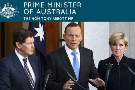 Kevin Andrews, Tony Abbott and Julie Bishop from pm.gov.au