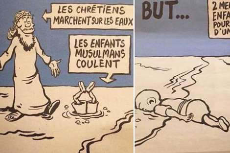 Charlie Hebdo Aylan Kurdi cartoon