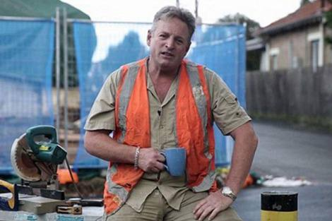 Still from the fake tradie ad