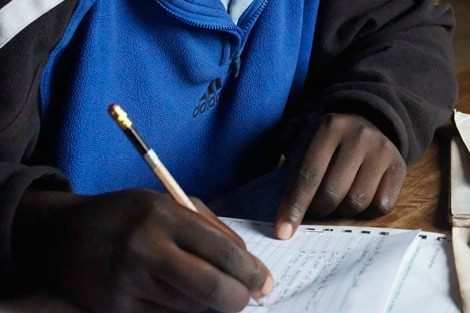 African refugee studying