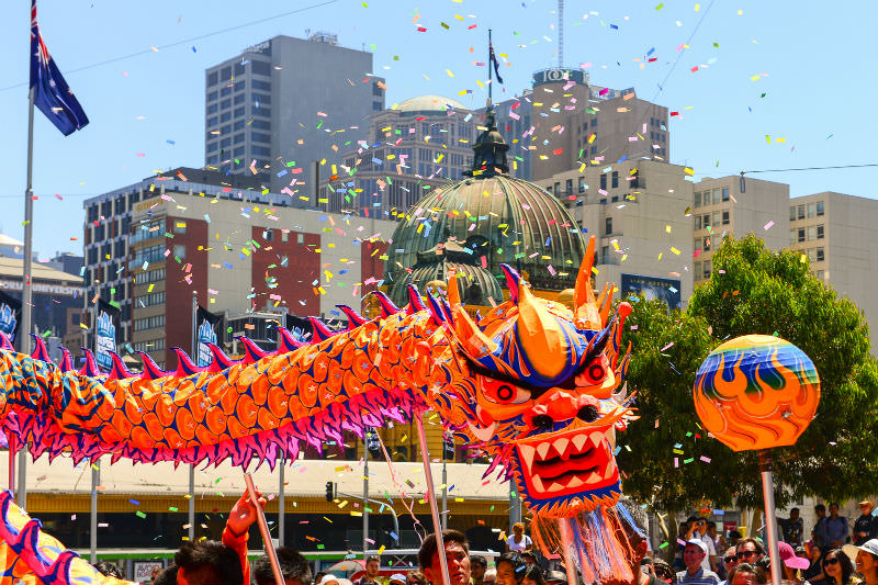 Main image: Chinese New Year celebration in Melbourne (Chris Phutully/Flickr)