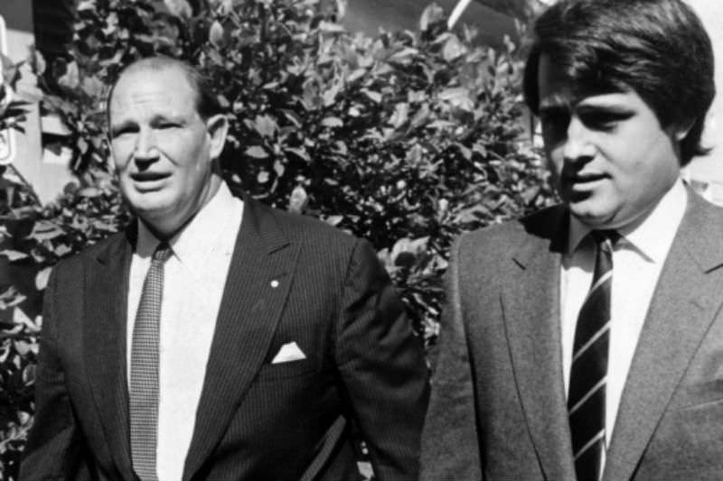 Kerry Packer and Malcolm Turnbull