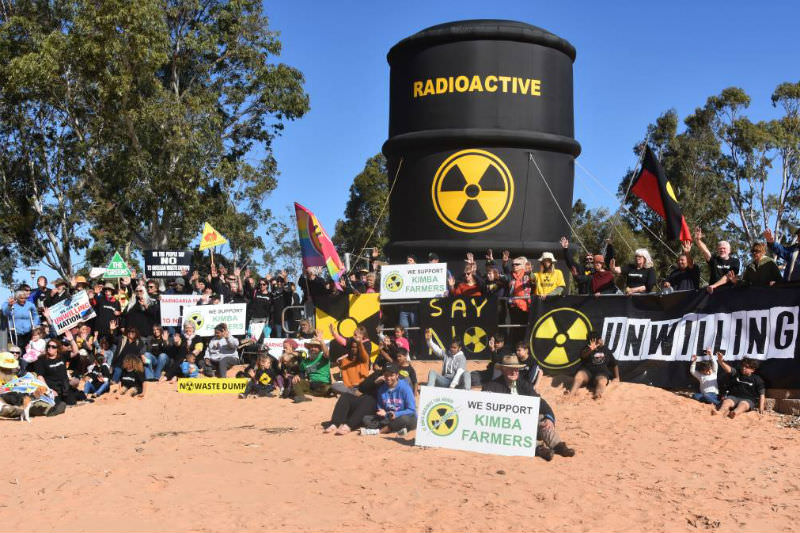 The protest in Port Augusta
