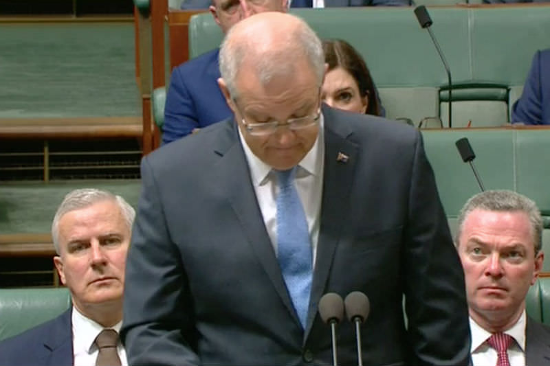 Scott Morrison delivers national apology to survivors of sexual abuse