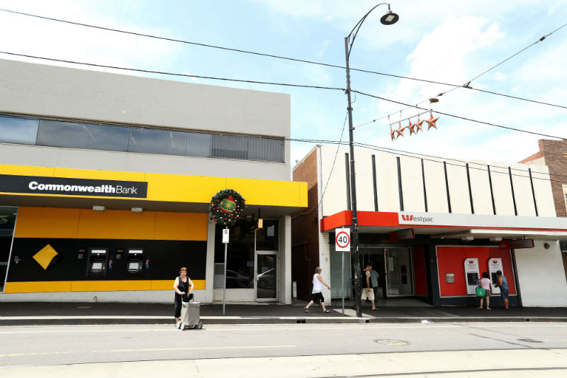 A general view of Commonwealth and Westpac bank branches (Robert Cianflone/Getty Images)