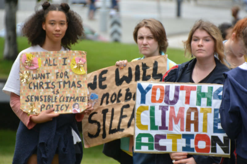 Hobart school students strike for climate action in 2018 (Laura Campbell via Flickr)