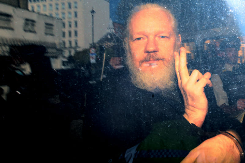 Julian Assange appears at Westminster Magistrates Court (Photo by Jack Taylor/Getty Images)