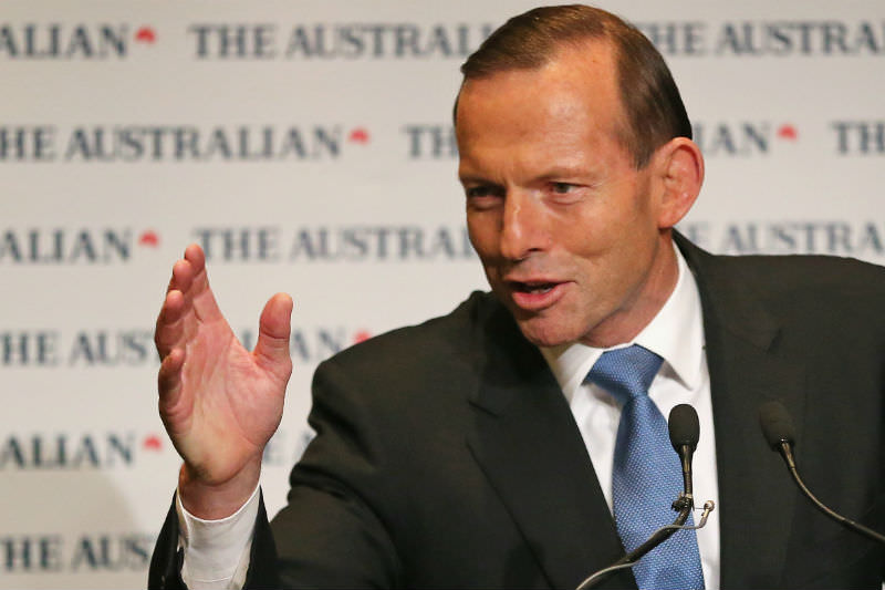 Tony Abbott in 2014 (Photo by Scott Barbour/Getty Images)