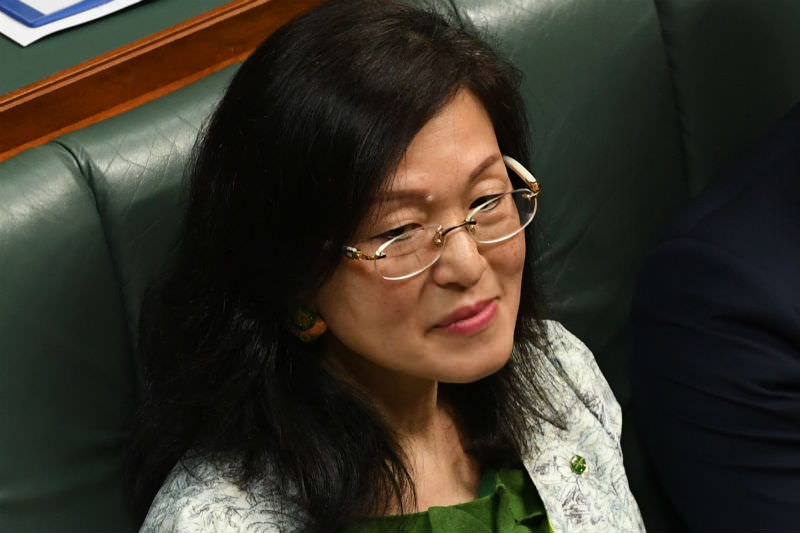 Liberal backbencher Gladys Liu during a division in the House of Representatives on 16 September 2019. (Photo by Tracey Nearmy/Getty Images)