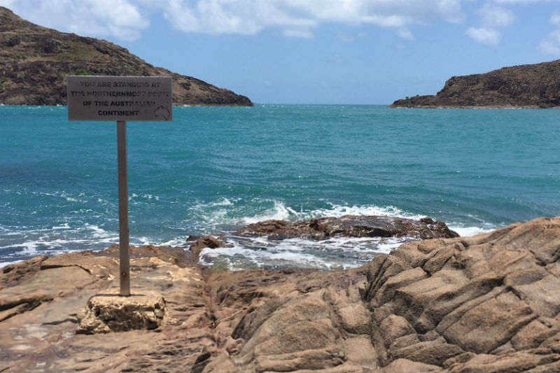 Sign marking the northernmost point of the Australian mainland (Credit: Catherine Marshall)