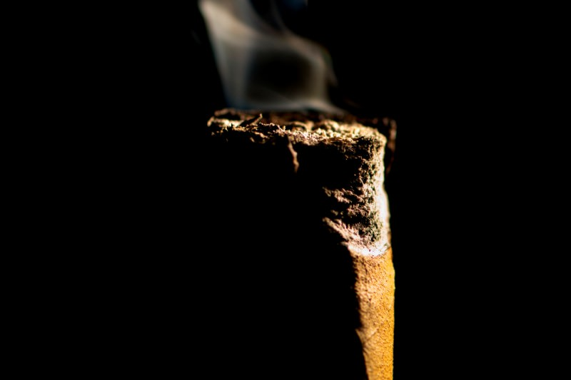 Close-up of a smoking cigar butt (Credit: shutterjack via Getty)