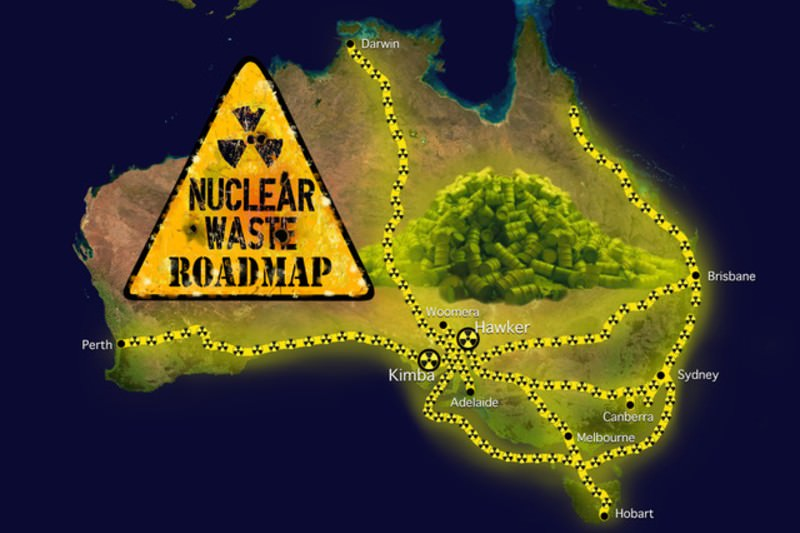 Nuclear waste transport map (Credit: Kim Mavromatis, compiled from information in documents released by the federal government.)