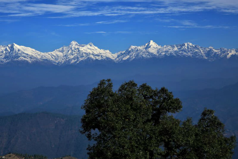 View of Himalayas and blue sky (Photo by Catherine Marshall)