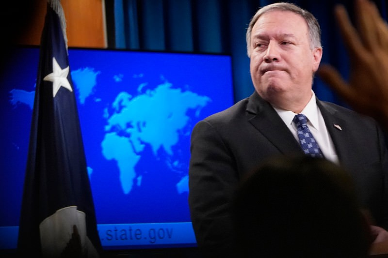 US Secretary of State Mike Pompeo speaks at the US State Department on 7 January 2020. (Photo by Win McNamee/Getty Images)