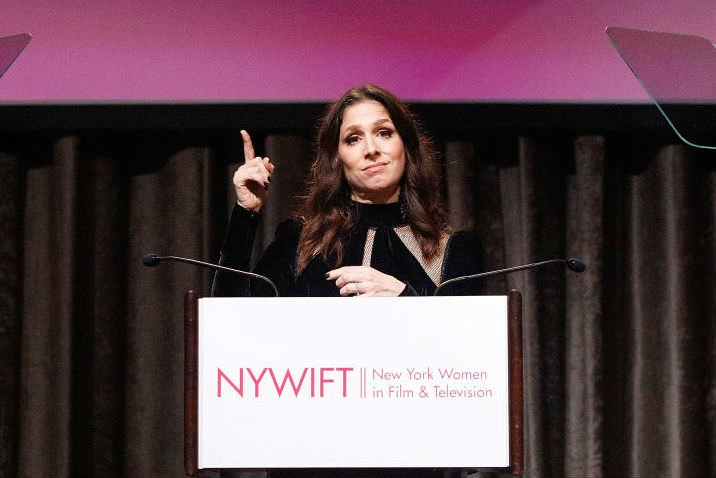 Shoshannah Stern on stage at NYWIFT awards ceremony (Getty Images/Lars Niki)