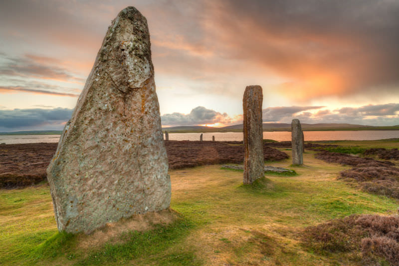 Ring of Brodgar standing stones in Scotland (Getty Images/lucentius)