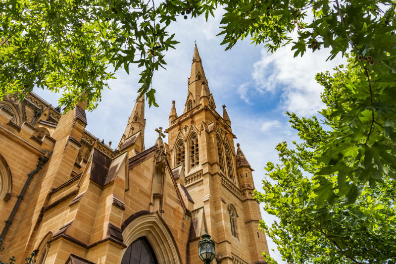 The Metropolitan Cathedral of the Immaculate Mother of God in Sydney (Getty Images/kldlife)
