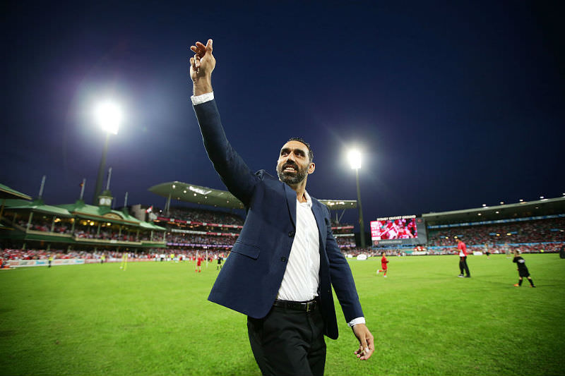 Adam Goodes farewelling crowd at the SCG (Matt King/Getty Images)