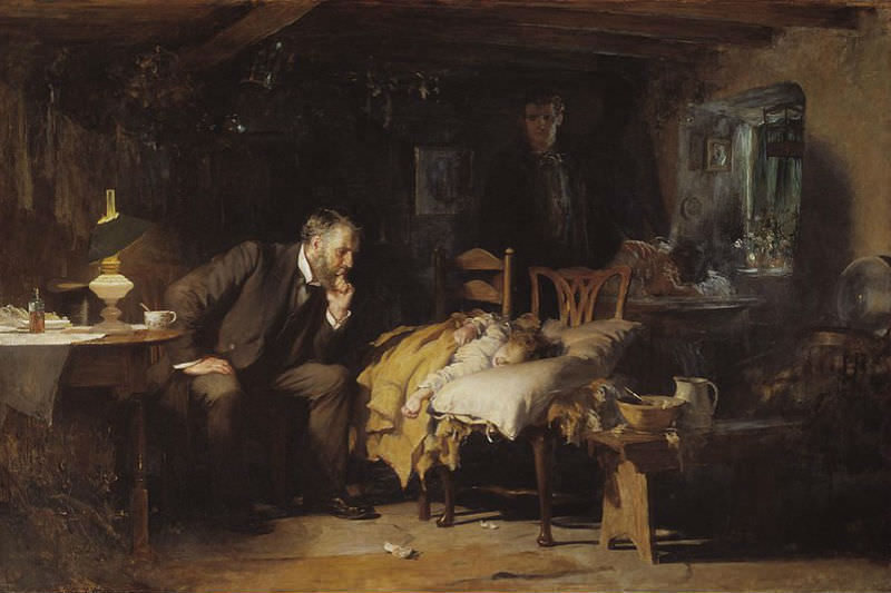 The Doctor by Luke Fildes (Wikimedia commons)