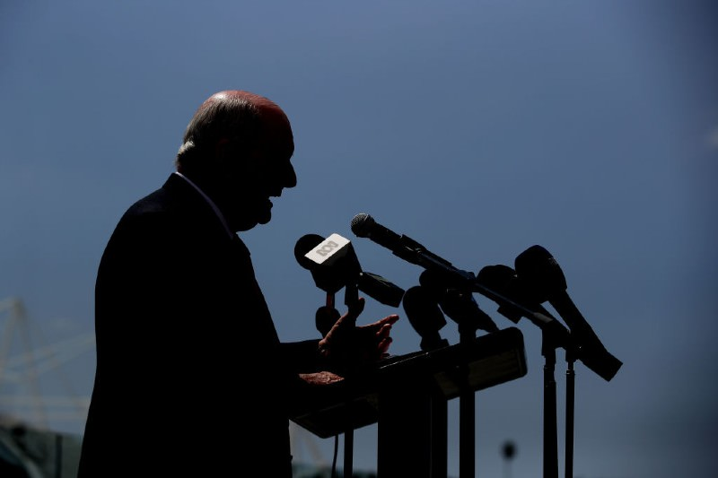 Alan Jones at press conference (Getty Images/Matt King)