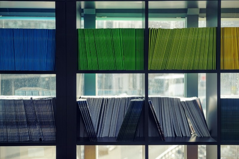 Journals in a library. Photo (Maarten van den Heuvel/Unsplash)