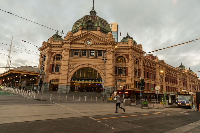 Main image: Flinders Street station under Stage Four lockdowns (Asanka Ratnayake/Getty Images)