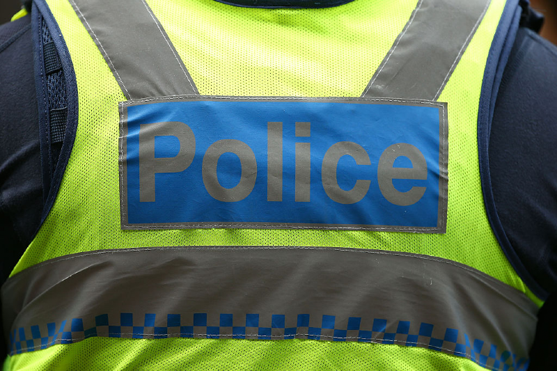 Close up of police vest (Scott Barbour/Getty Images)