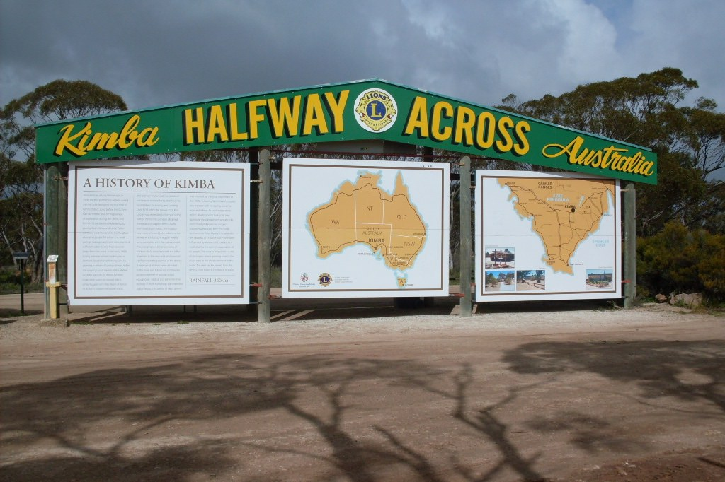 Main image: 'Kimba halfway across Australia' sign (Thom Devereux/Wikimedia commons)