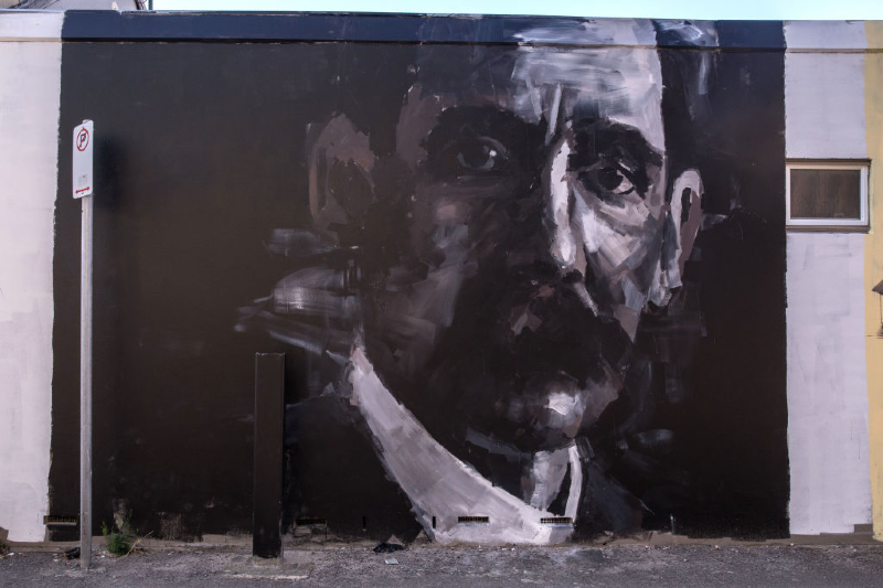 Street art of Henry Lawson (Mark Kolbe/Getty Images)